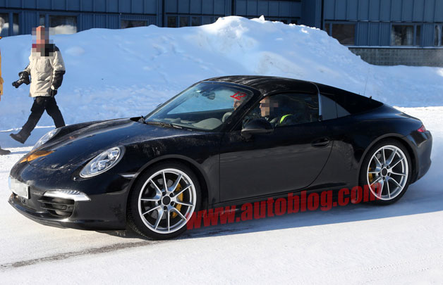 2014 Porsche 911 Targa Spotted Testing In The Snow