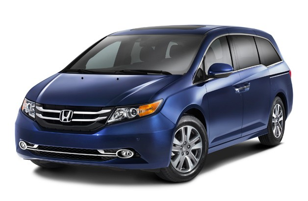 2014 Honda Odyssey - front three-quarter view, blue