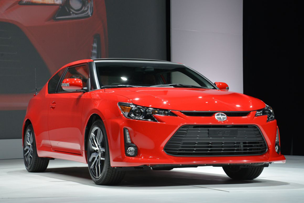 2014 Scion tC live at NY Auto Show reveal - red