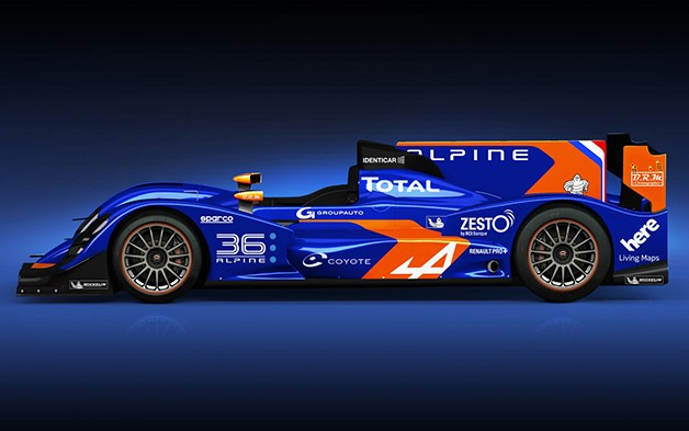 Alpine N36 LMP2 racecar - profile studio shot
