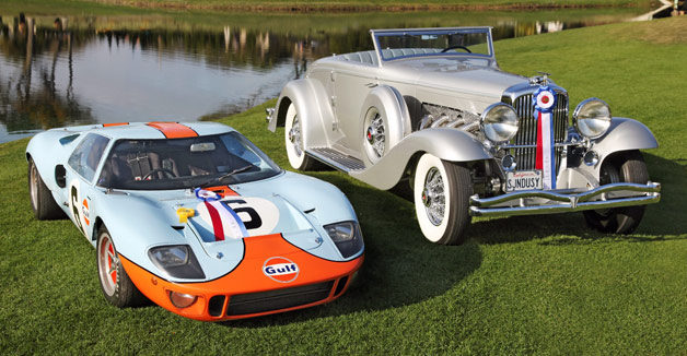 2013 Amelia Island Concours d'Elegance winners - Duesenberg and Ford