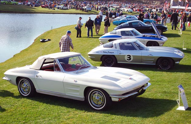Amelia Island Concours d'Elegance 2013 - Corvette Sting Ray display