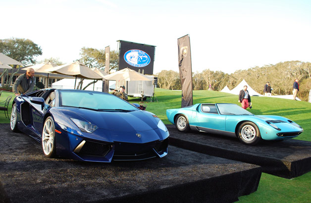 Lamborghini display on the lawn at the 2013 Amelia Island Concours d'Elegance