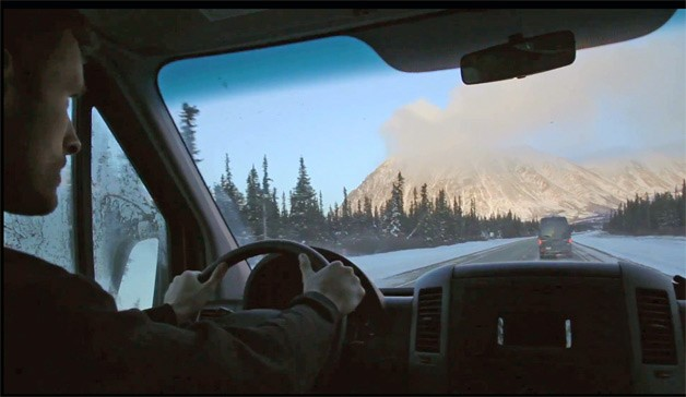 The List #0011: Drive to the Arctic Circle - screencap from behind the wheel of Mercedes Sprinter