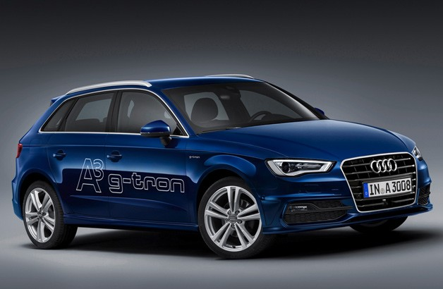 A3 Sportback G-Tron - front three-quarter studio view
