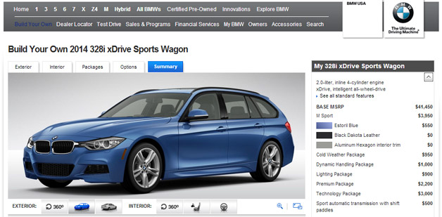 BMW 3 Series Wagon Configurator