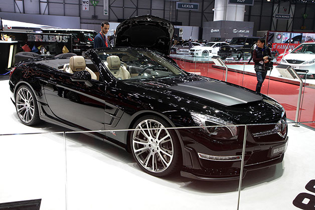 Brabus 800 Roadster - front three-quarter view at Geneva Motor Show