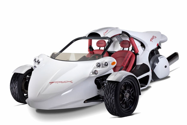 Campagna T-Rex 16STM with six-cylinder BMW power - white - front three-quarter view