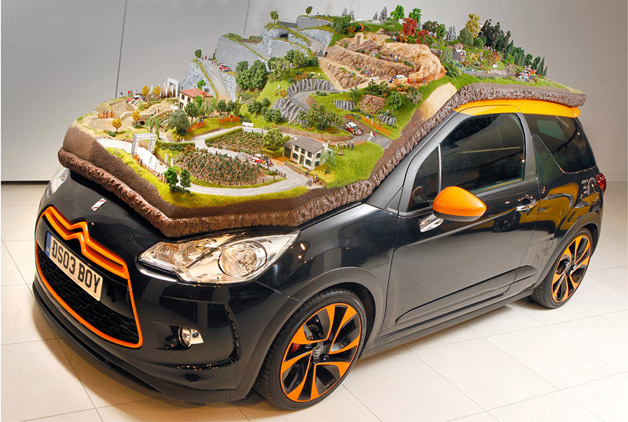 This is Citroën's extraordinary diorama reverence to applaud the WRC winnings