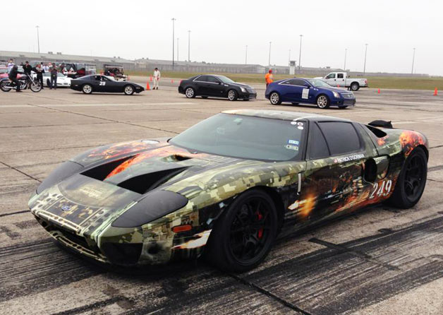 Hennessey Ford GT before record-setting 267.6-mph run at Texas Mile