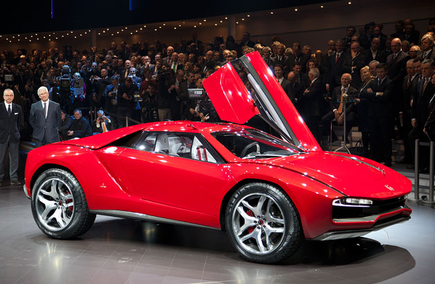 Italdesign Giugiaro Parcour - door up at Geneva Motor Show reveal