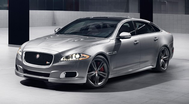 2014 Jaguar XJR - front three-quarter view, silver