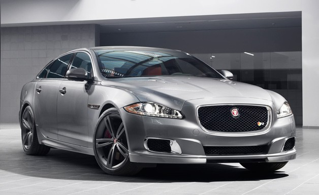 542-HP Jaguar XJR to entrance during New York Auto Show