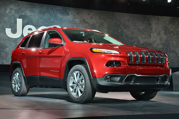 2014 Jeep Cherokee - live on stage, front three-quarter view