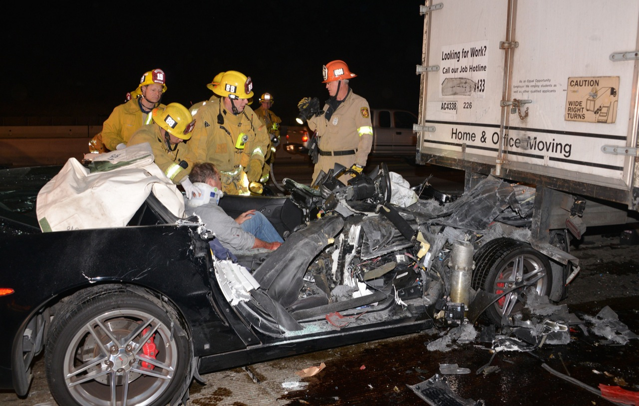 Corvette Driver Escapes Decapitation In Crash By Ducking