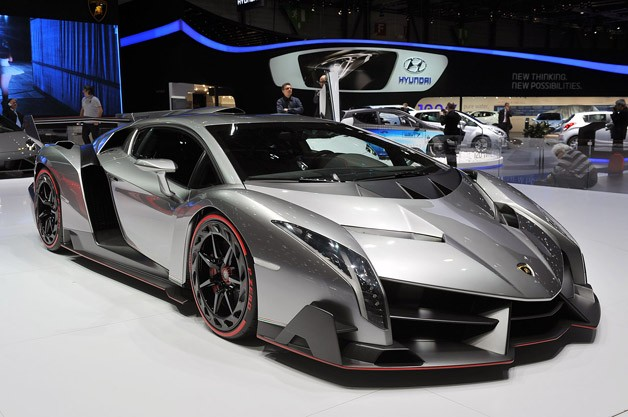 Lamborghini Veneno - front three-quarter view, Geneva Motor Show