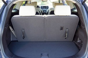 2013 Hyundai Sante Fe rear cargo area