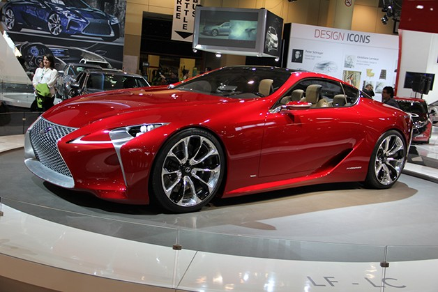 Lexus LF-LC concept - front three-quarter view, maroon