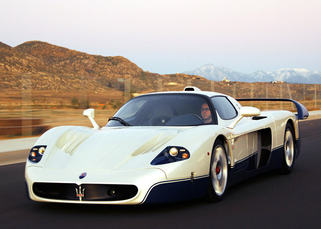 Maserati MC12 supercar - front three-quarter view, in motion