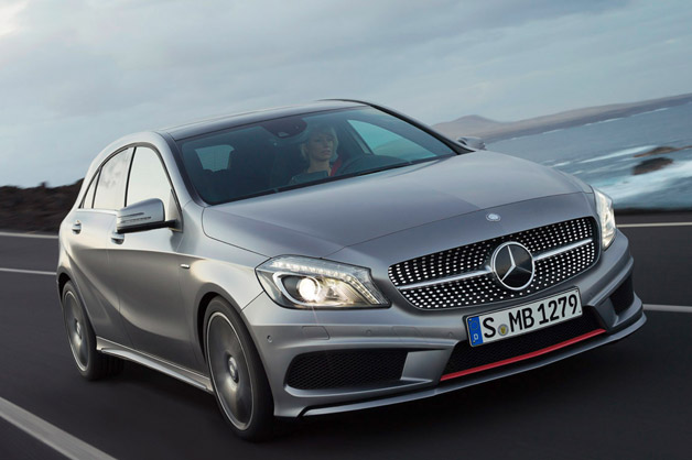 Mercedes-Benz A-Class - front three-quarter view, dynamic