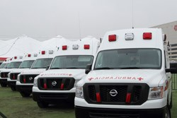 Nissan NV200 finds latest work as ambulance, Gibson guitar correct truck