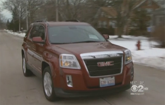 Palmen Motors new car sale scam - video report screencap of new GMC Terrain