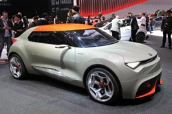 Kia Provo Concept - front three-quarter view at Geneva Motor Show reveal