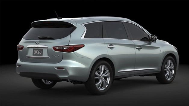 2014 Infiniti QX60 Hybrid crossover - rear three-quarter view