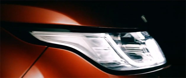 2014 Range Rover Sport Teaser - headlight - video screencap