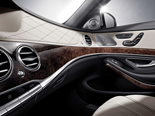 2014 Mercedes-Benz S-Class - dashboard wood and leather detailing