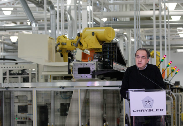 Sergio Marchionne gives speech at Chrysler's Kokomo, Indiana plant