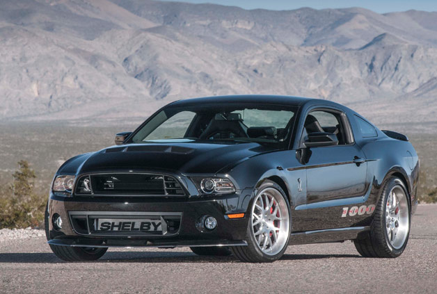 2013 Shelby 1000 Mustang - front three-quarter view, black