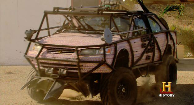 Modified pink Toyota Camry for Top Gear USA - video screencap