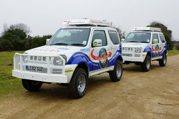 Four seniors to expostulate around universe in span of Suzuki Jimny SUVs for charity