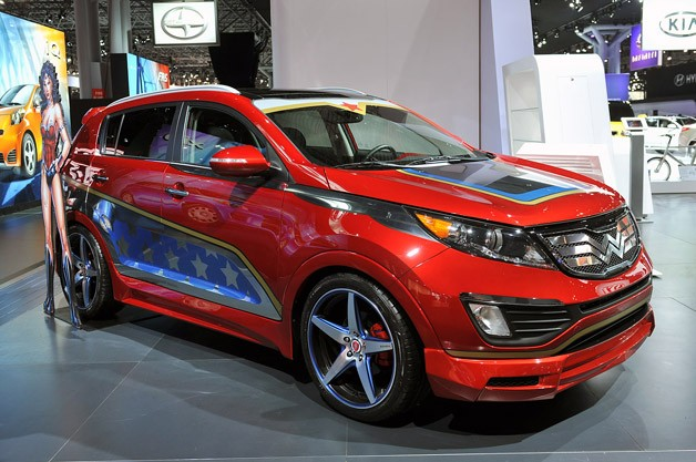 Wonder Woman Kia Sportage is anything though invisible