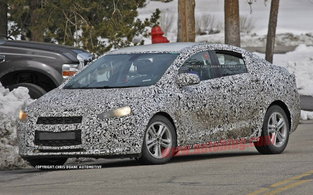 2015 Chevrolet Cruze - spy shot, camouflaged
