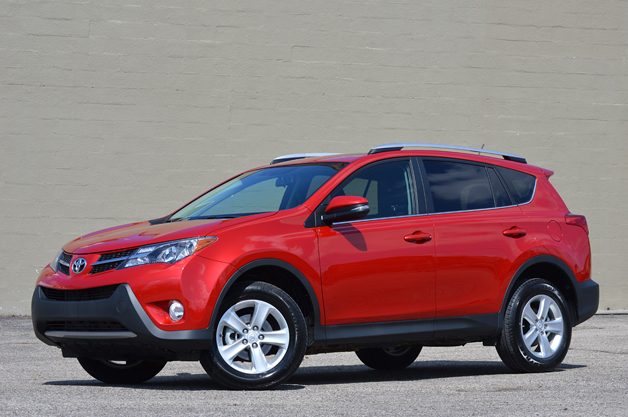 2013 Toyota RAV4 - front three-quarter view, red