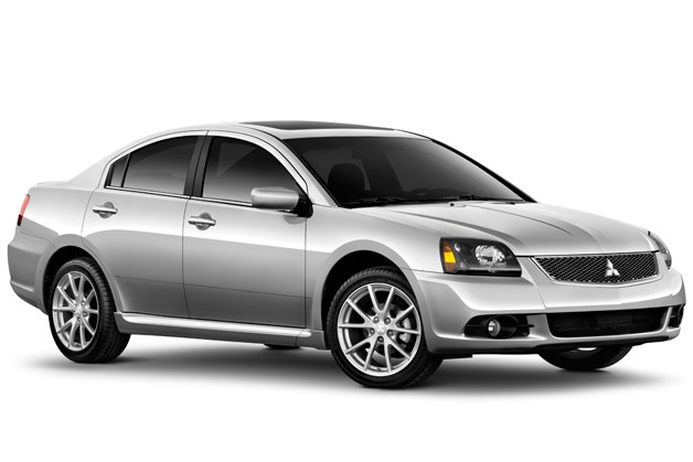 2012 Mitsubishi Galant - silver front three-quarter view