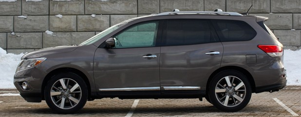 2013 Nissan Pathfinder side profile
