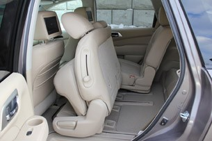 2013 Nissan Pathfinder second row seats folded forward