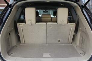 2013 Nissan Pathfinder cargo area behind third-row seat