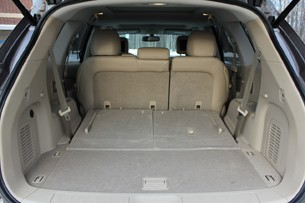 2013 Nissan Pathfinder cargo area behind second row seat