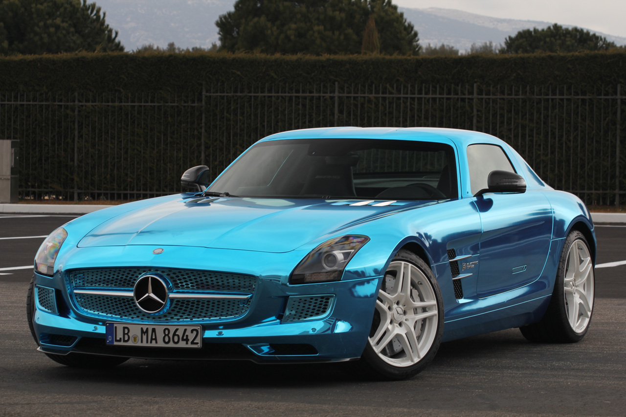 mercedes benz sls amg electric drive wvideo autoblog