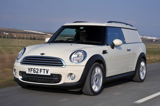 2014 Mini Cooper Clubvan - front three-quarter dynamic view