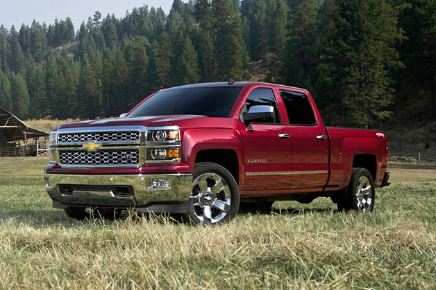 2014 Chevrolet Silverado - front three-quarter view in a field