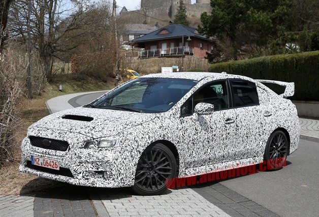 Next-gen Subaru WRX STI spotted at the Nürburgring [UPDATE]