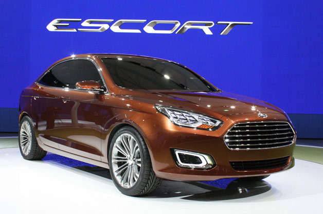 Ford Escort Concept - live at 2013 Shanghai Motor Show - front three-quarter view