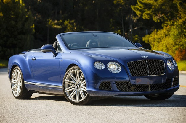 2013 Bentley Continental GT Speed Convertible - front three-quarter view, top down