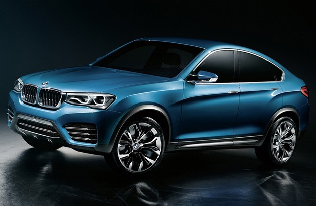 BMW X4 Concept - leaked front three-quarter studio image