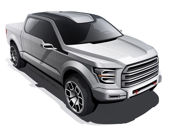 Ford Atlas Concept Early Design Sketches